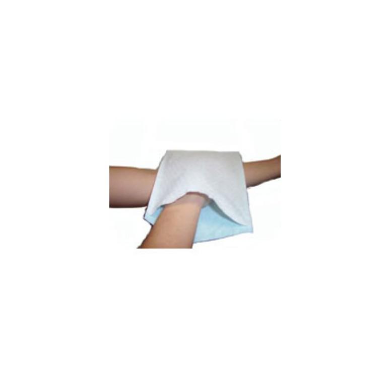 Gant de toilette Care plastifiés blancs