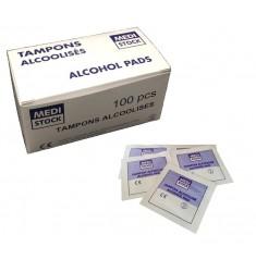 Tampons imprégnés d'alcool à 70%