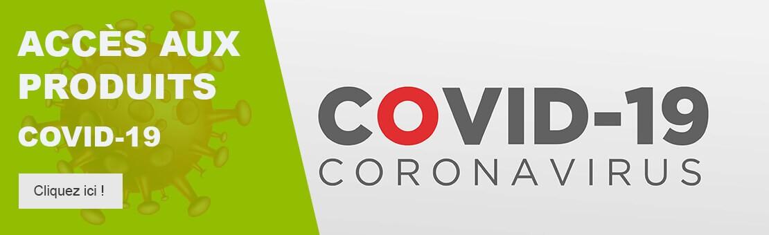 Accès aux produits COVID-19 - Cliquez ici